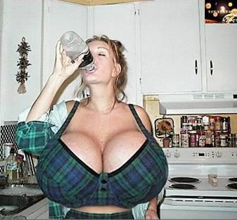 tetek gede banyak minum